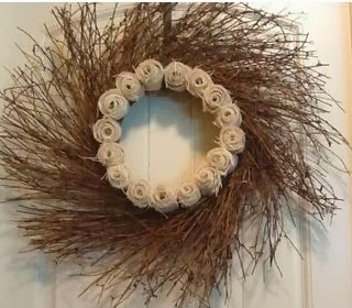 Burlap Rose Wreath Tutorial