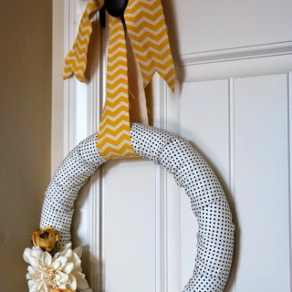 Chic Fabric Wreath Made in Less than 15 Minutes