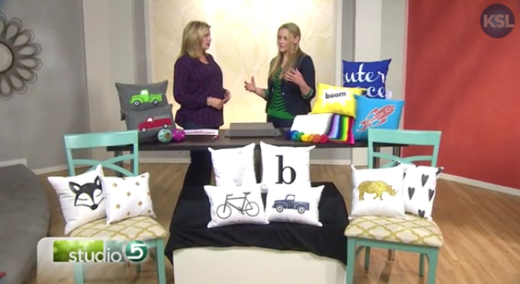 Craft Remedy Felted Pillow Tutorial on Studio 5- Ali Carlile
