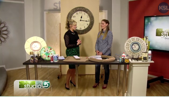 Craft Remedy on KSL Studio 5- Cardboard Clock