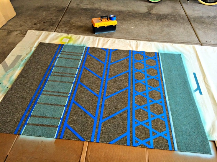 Diy Rug Painted Area Rug For Under 40 Craft Remedy