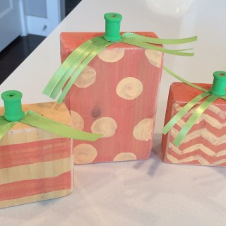 Pumpkin and Monster Blocks – Free Instructions – Ladies Craft Night