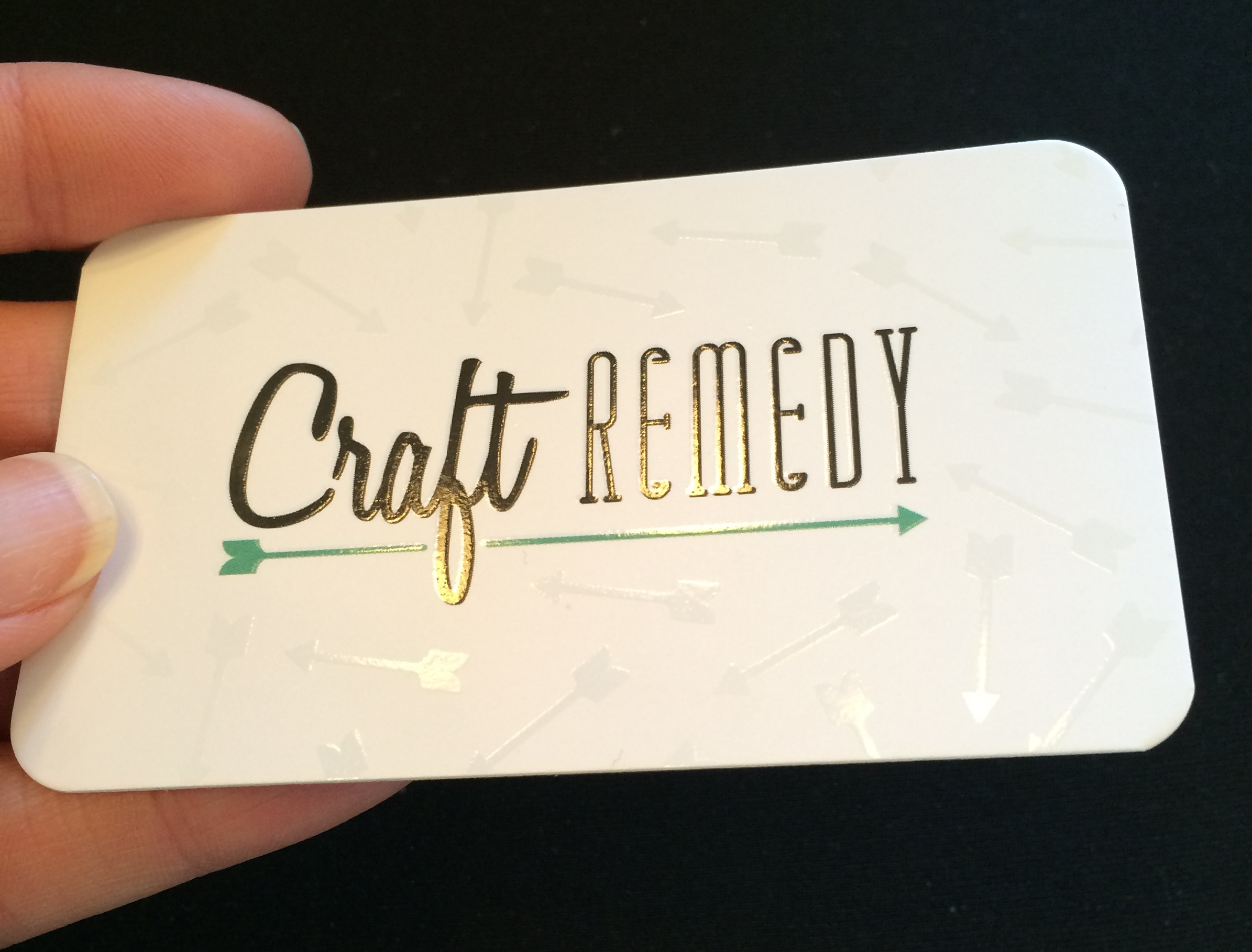 Business Cards are Here Craft Remedy