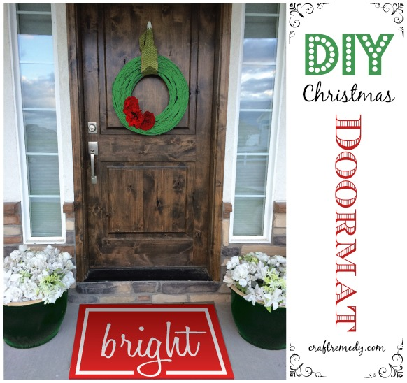DIY Christmas Doormat