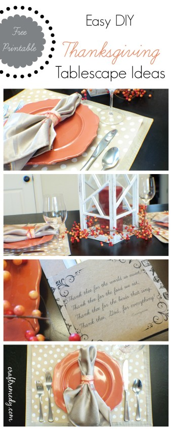 Thanksgiving tablescape ideas on the cheap