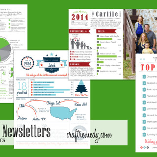 Christmas Newsletter – Year in Review – Infographic – Templates