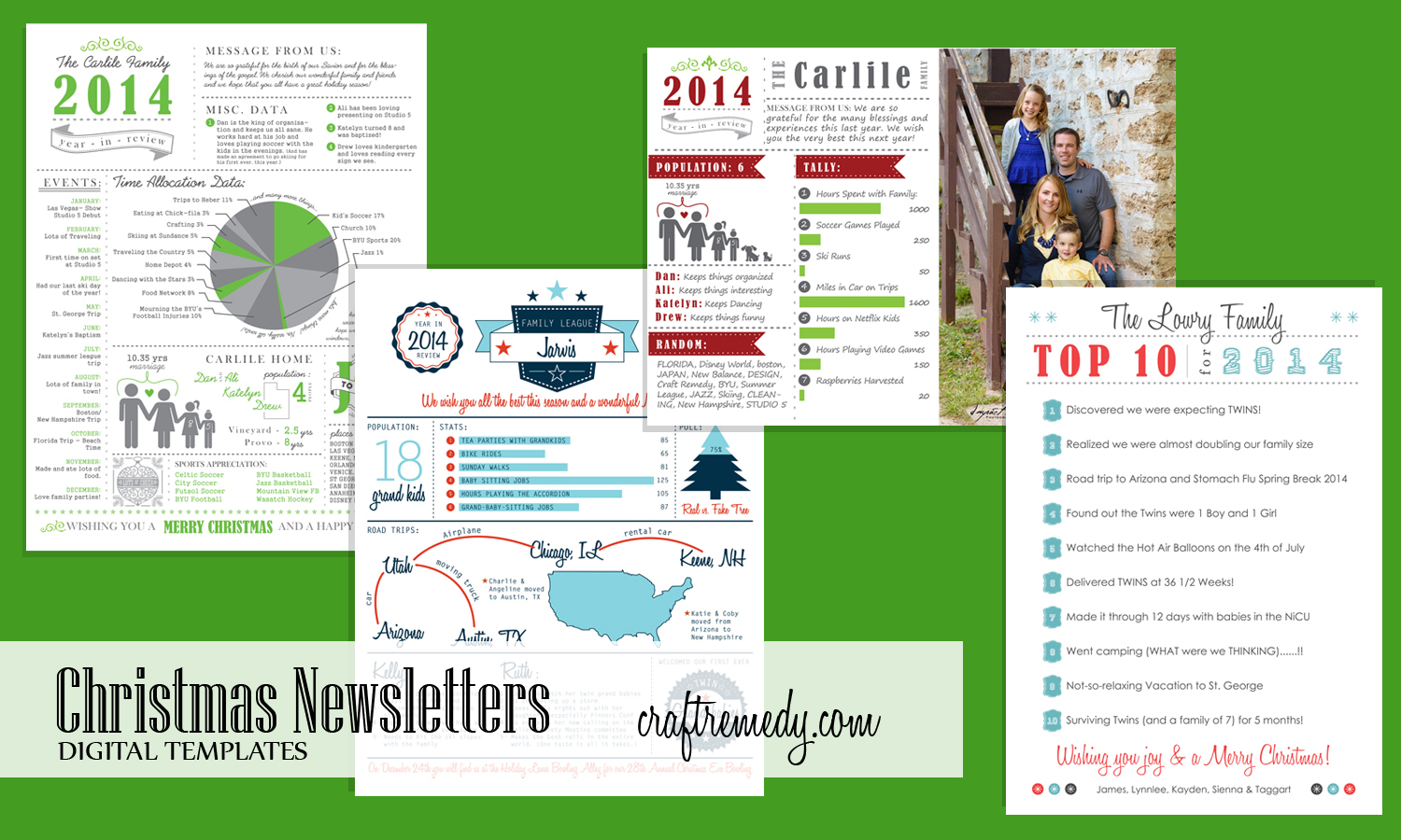 christmas newsletter year in review infographic templates craft remedy. Black Bedroom Furniture Sets. Home Design Ideas
