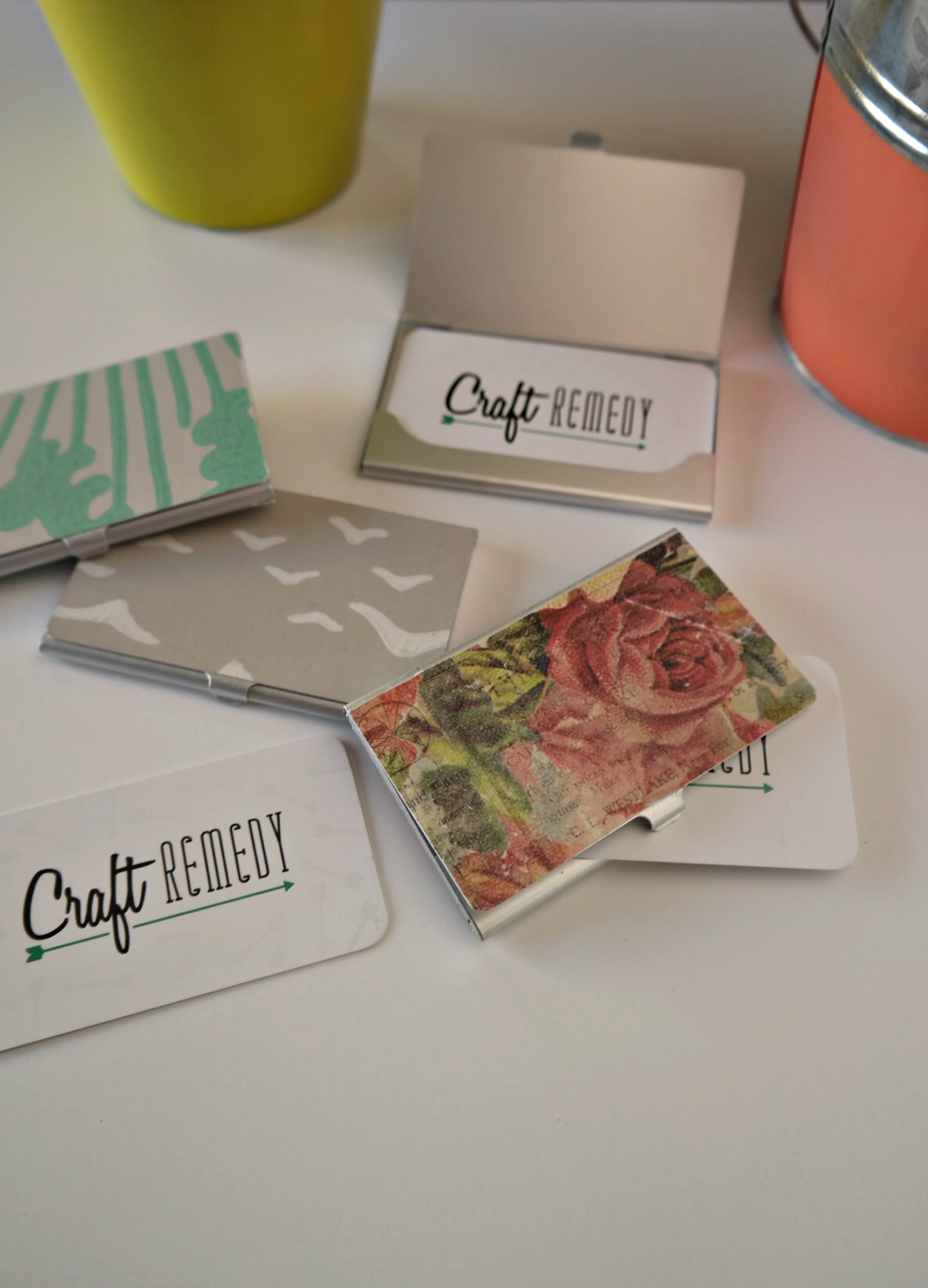 diy business card holder craft remedy - Diy Business Card Holder