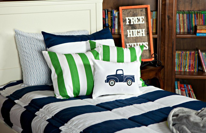 Vintage  Ford Truck Iron on Pillow