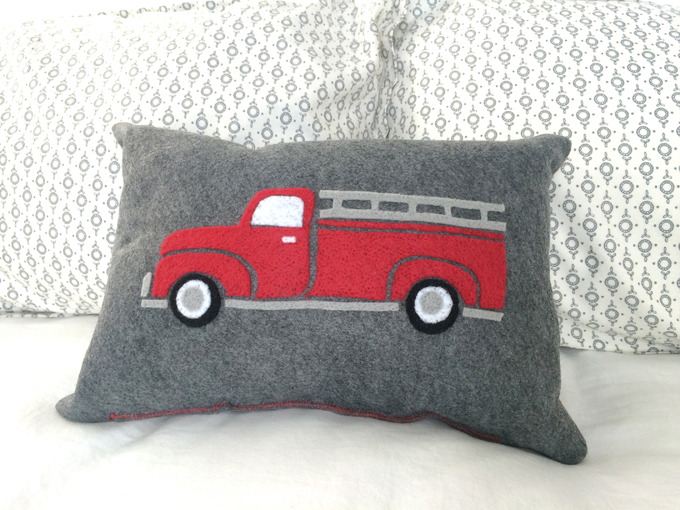 red-vintage-felt-fire-truck-pillow