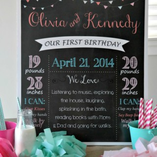 Twins First Birthday Party+ GIVEAWAY!