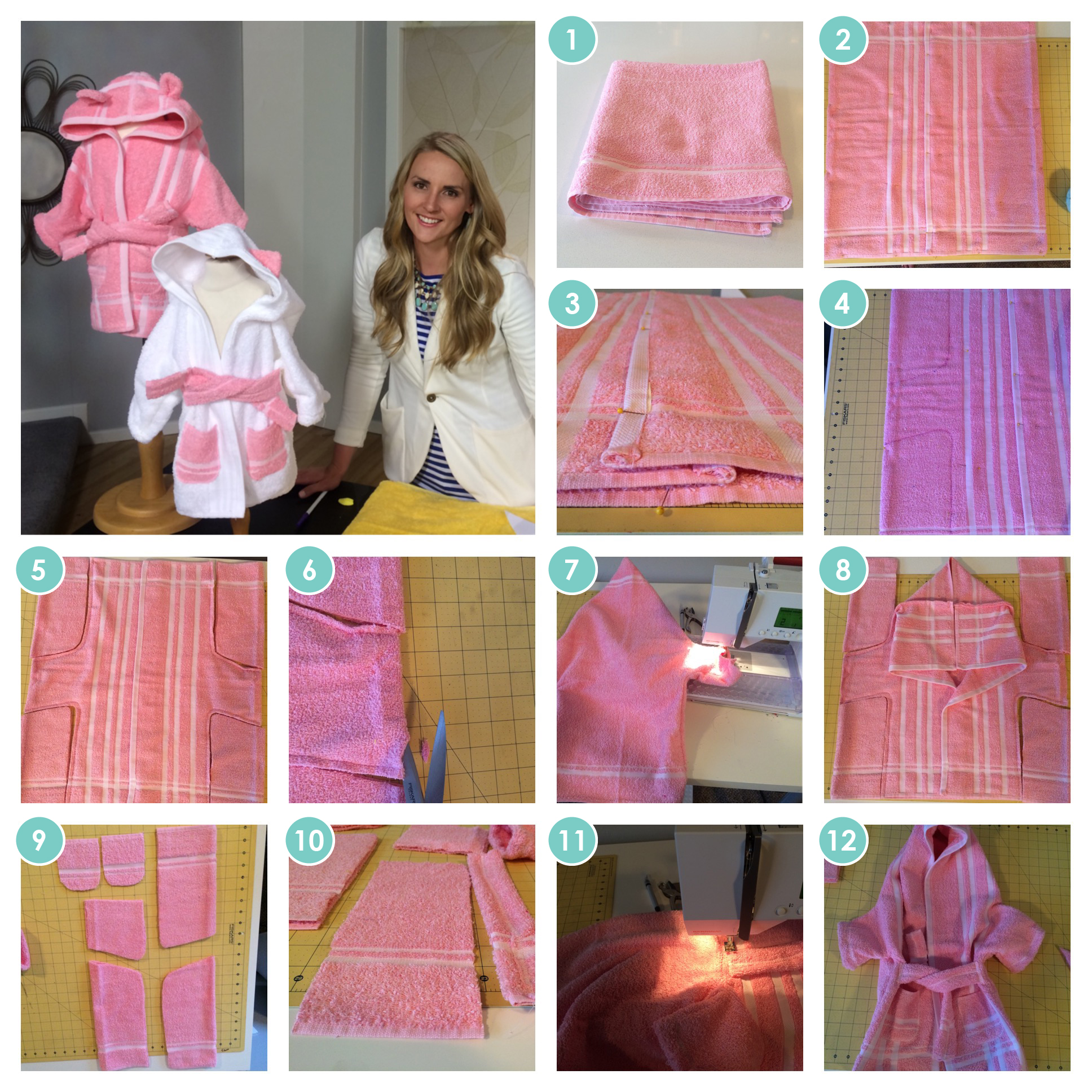 1 Towel Bathrobes Easy Sewing Project Patterns Craft