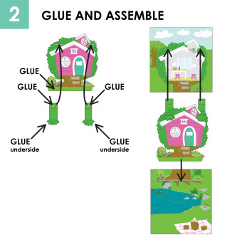Pop up book and paper doll set craft remedy for Olivia s garden pool instructions