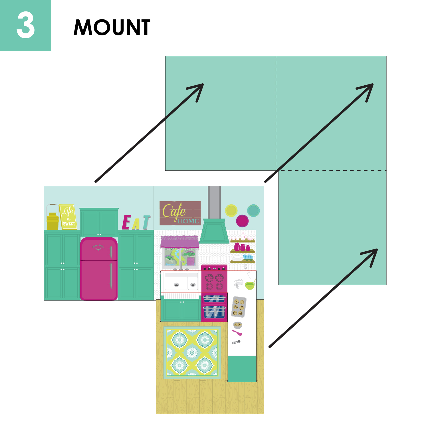 kitchen worktop cutting template - pop up book and paper doll set craft remedy