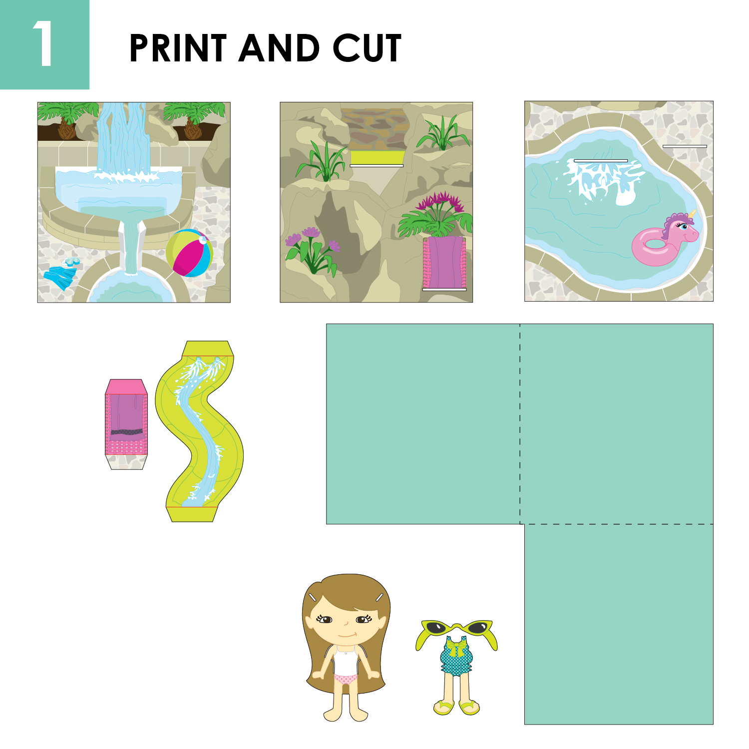 Pop Up Book And Paper Doll Set