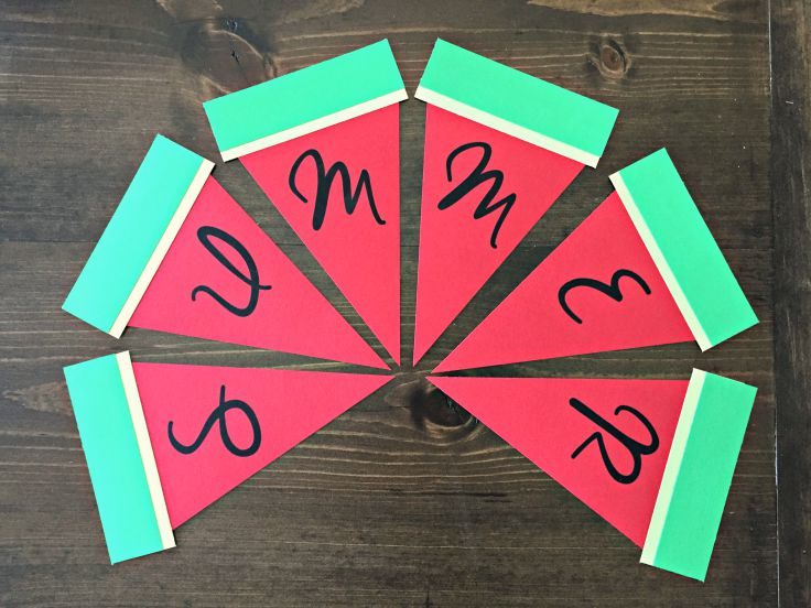 Super Easy Watermelon Summer Banner. Great for a neighborhood block party or family BBQ.