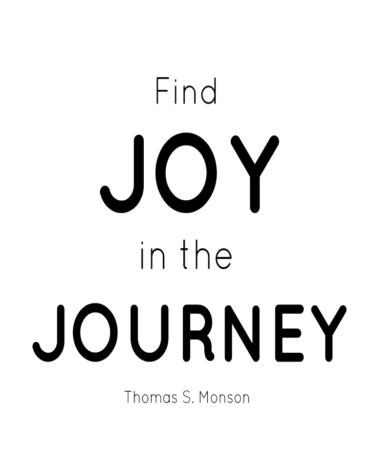 Find Joy in the Journey Printable/ Stencil