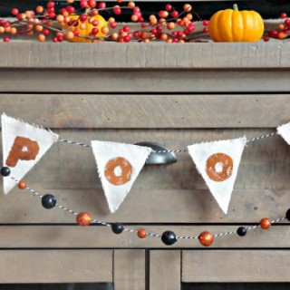 Shine and Sparkle Gold Foil SPOOKY Halloween Banner