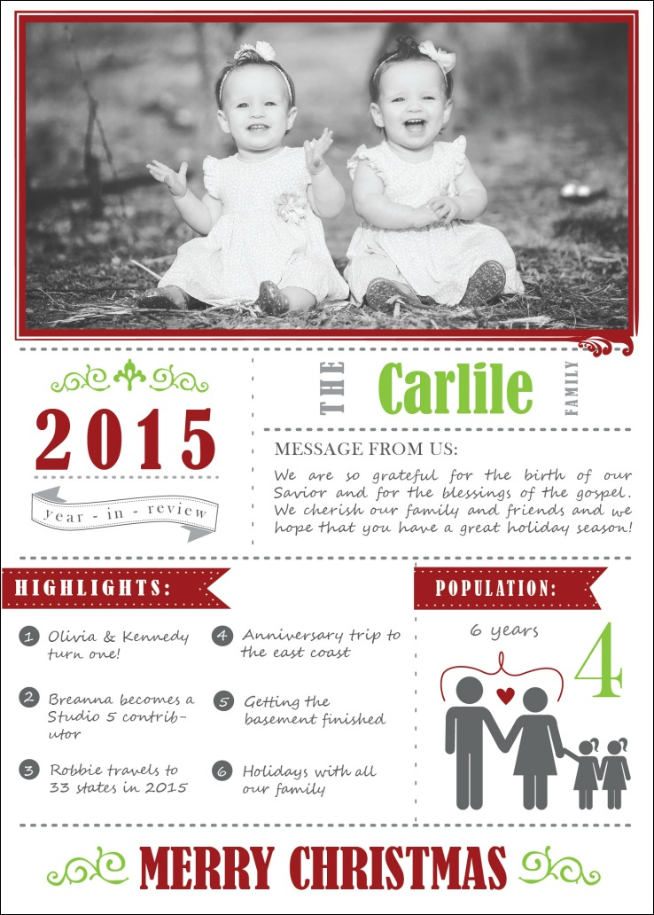 Personalized Christmas Cards + Giveaway - Craft Remedy