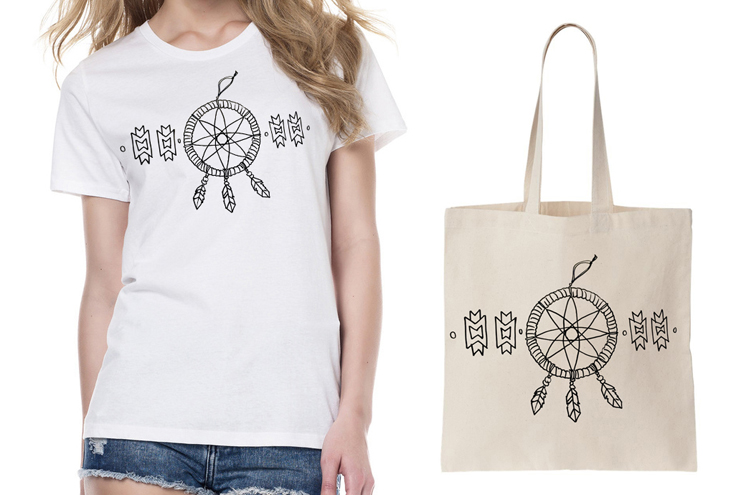 Brooklyn and Bailey DIY T Shirts Dream Catcher iron on