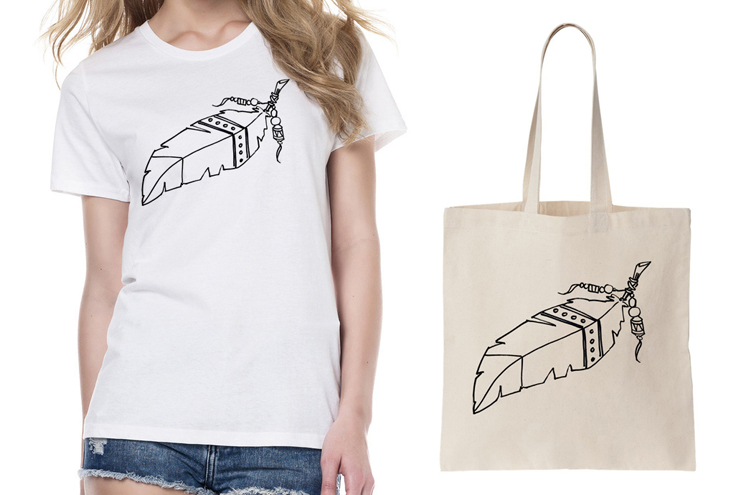 Brooklyn and Bailey DIY T Shirts: Feather iron on