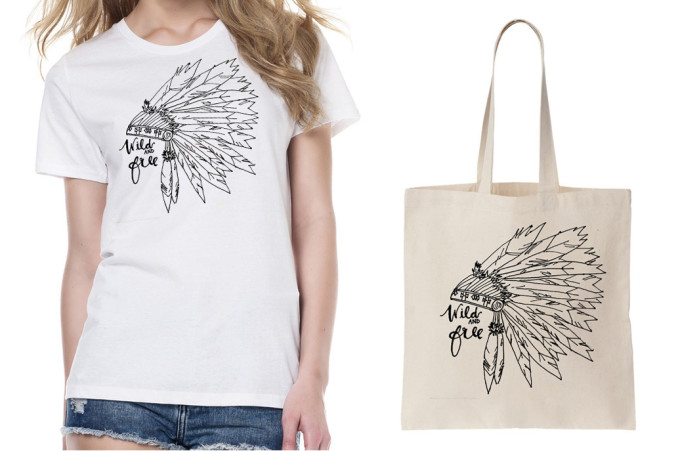 Brooklyn and Bailey DIY T Shirts: Indian Headdress Wild and Free