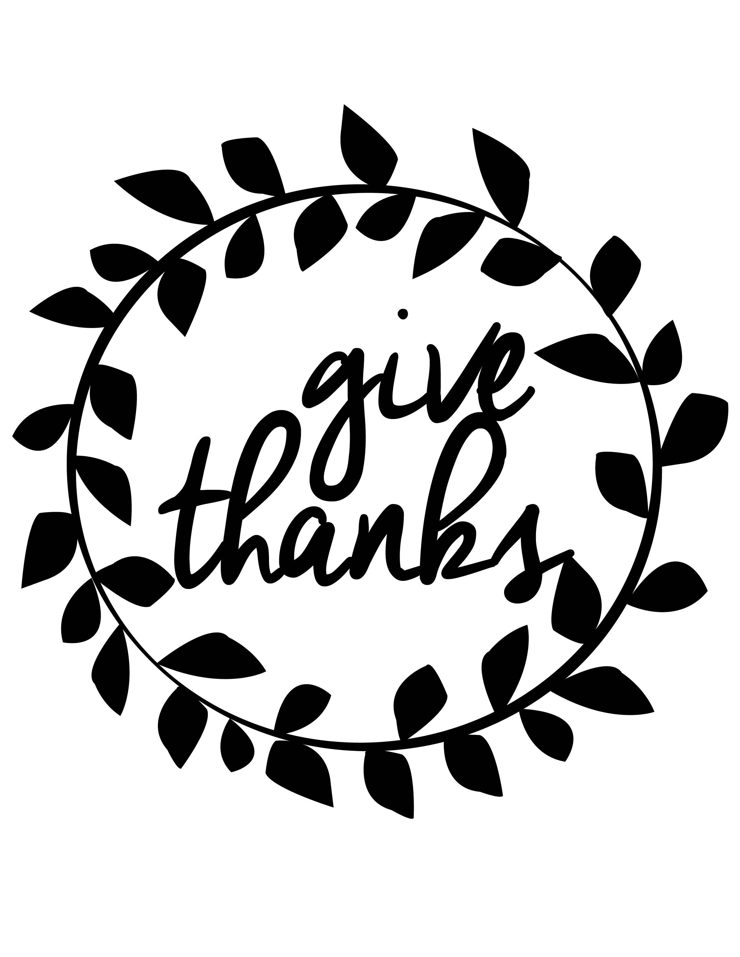 It's just a graphic of Adorable Give Thanks Printable