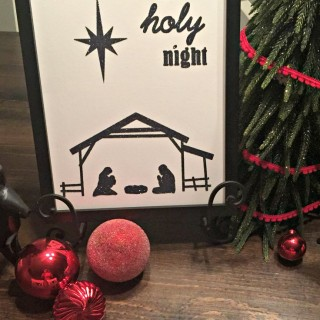 O Holy Night Christmas Wall Art Printable