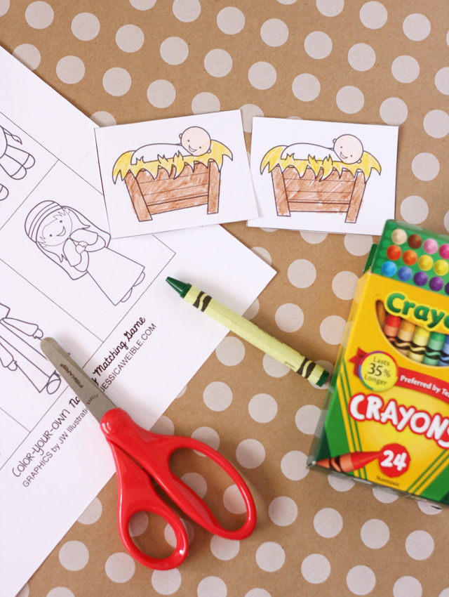 Printable Kids Nativity Matching Game- My Sisters Suitcase