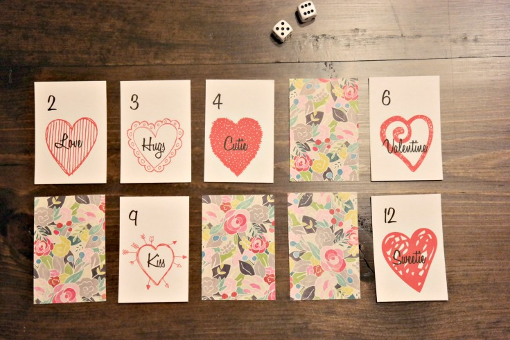 """Oh so """"Sweet"""" Valentines Card Game inspired by the game Snake EyesOh so """"Sweet"""" Valentines Card Game inspired by the game Snake Eyes"""