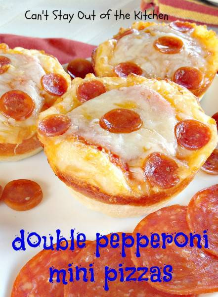 Super Bowl Appetizers: Double Pepperoni Mini Pizzas | Can't Stay out of the Kitchen