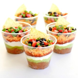 Super Bowl Appetizers: Individual 7 Layer Dip | The Girl Who Ate Everything