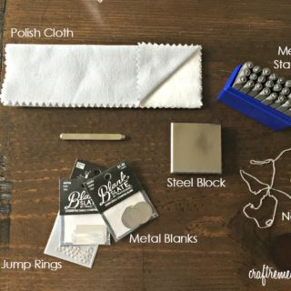 DIY Metal Stamped Necklace Tools and Supplies + Beginner Tips