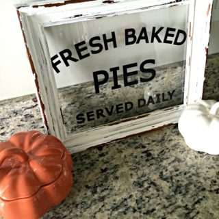 """It's pie season! LOVE this """"Fresh Baked Pies"""" DIY autumn sign for only $4!"""