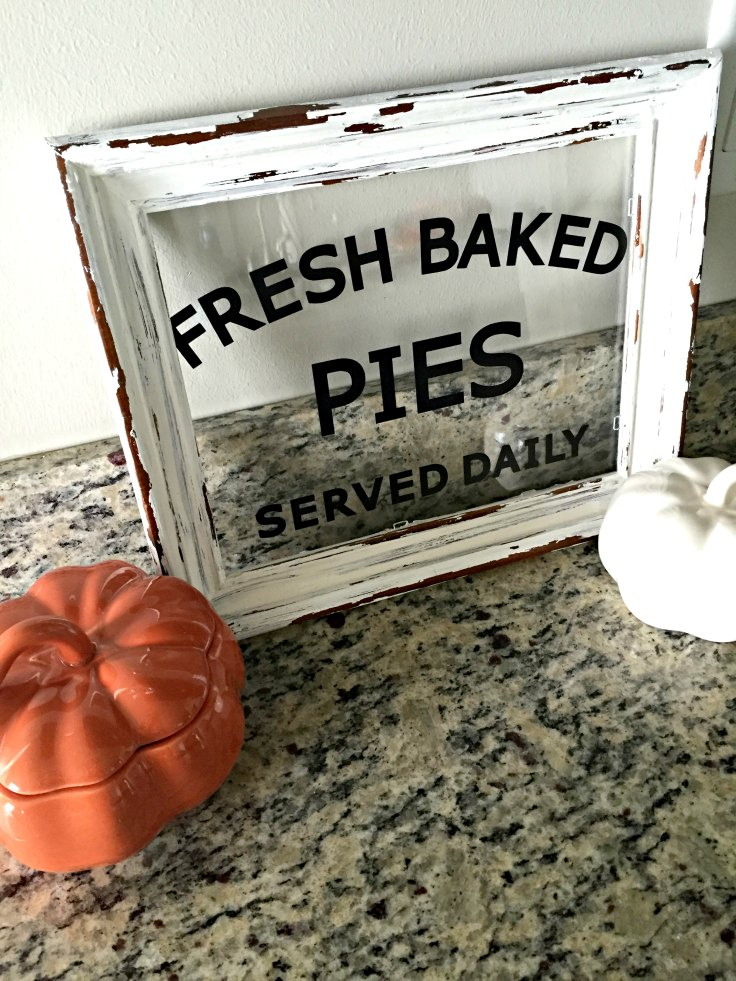 "It's pie season! LOVE this ""Fresh Baked Pies"" DIY autumn sign for only $4!"