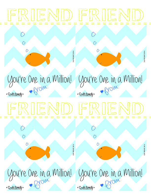 Melted Crayon Hearts Valentines and Printables. Yellow and Blue Fish Valentines!