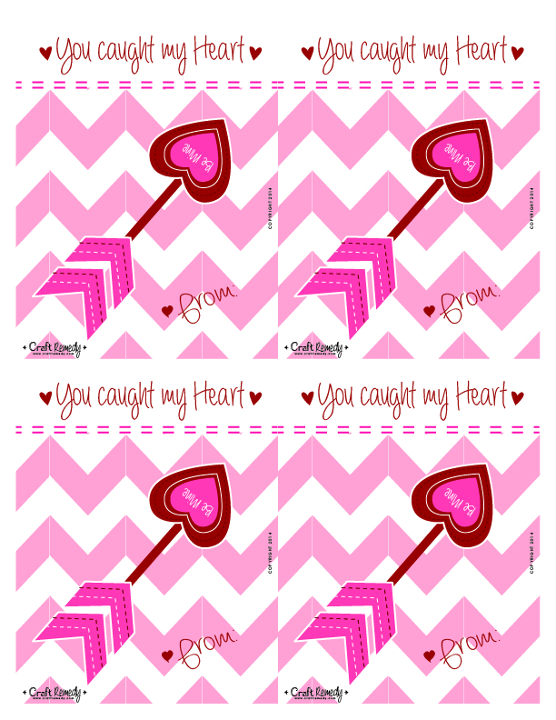 Melted Crayon Hearts Valentines and Printables! Red and Pink Heart Arrow