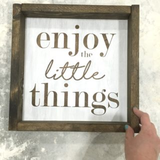 DIY Wood Signs for a Collage Wall