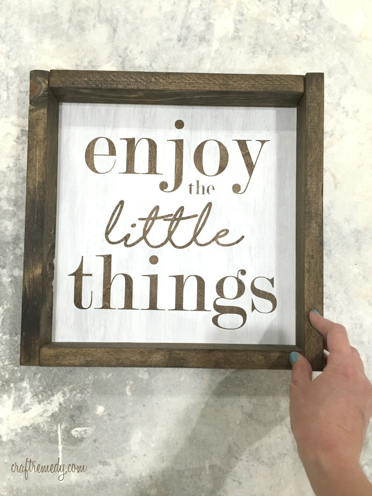 diy wood signs for a collage wall craft remedy. Black Bedroom Furniture Sets. Home Design Ideas