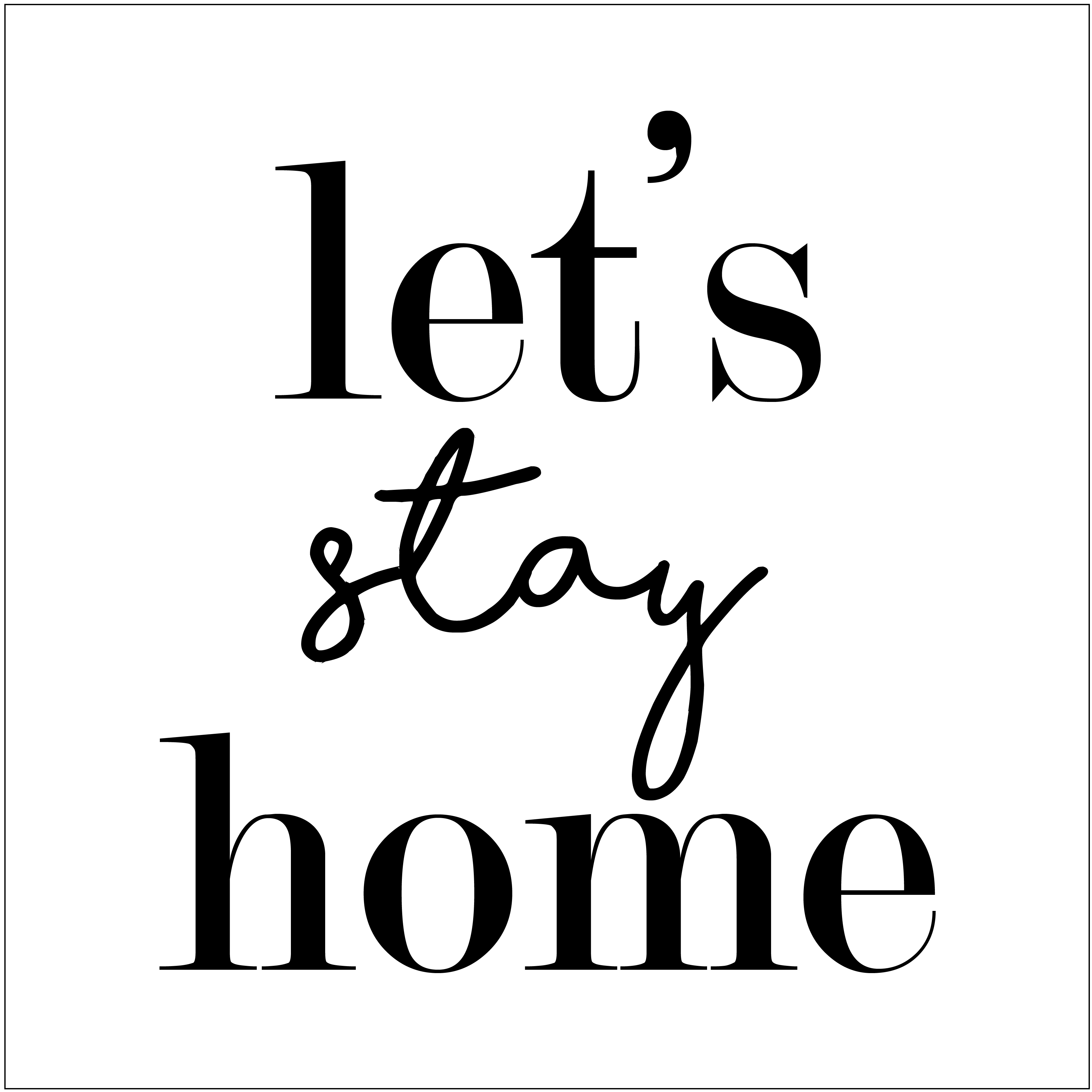 "Let's Stay Home 12"" x 12"" printable or cut file for DIY wood signs"