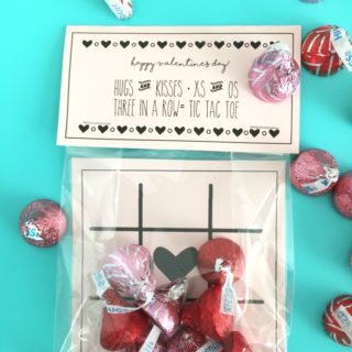 Hugs and Kisses Valentine & Tic Tac Toe Game
