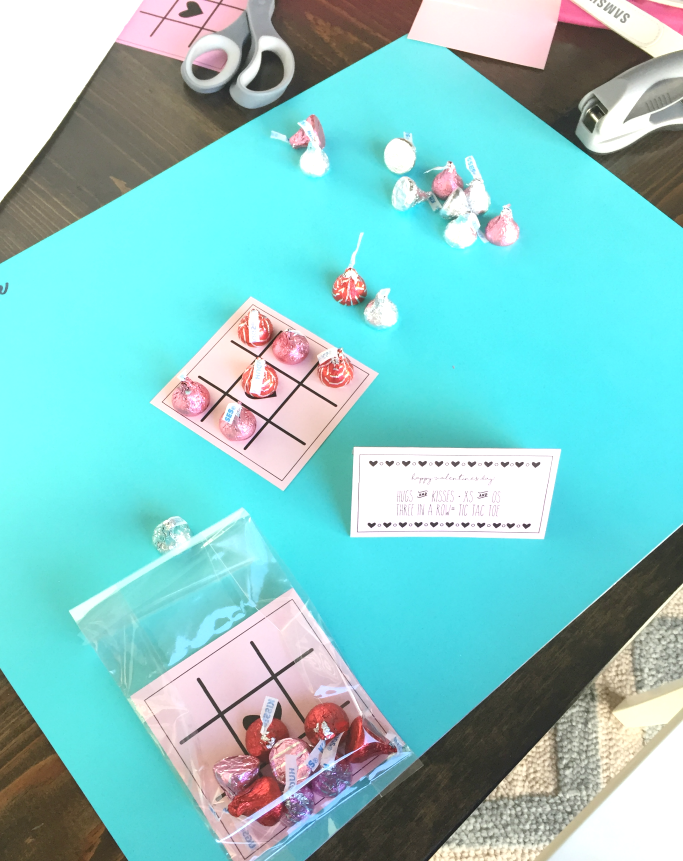 Hugs and Kisses, Tic Tac Toe Valentine treat and game for the classroom and perfect for boys or girls!
